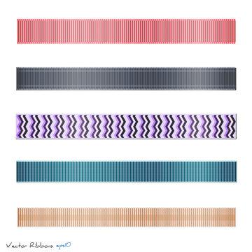 Ribbons, Vector Illustration
