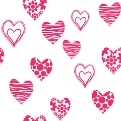 Seamless funky heart pattern