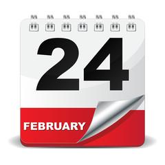 24 FEBRUARY ICON