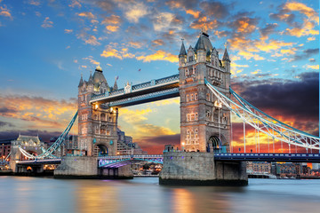 Autocollant pour porte London Tower Bridge in London, UK