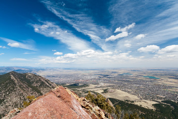 Aerial View of Boulder, Colorado