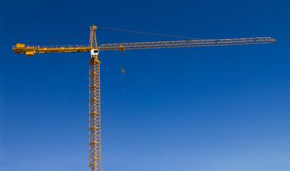 Big Yellow Construction Crane