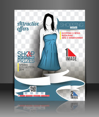 Shopping Center Store Front Flyer Template