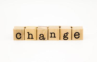 change wording isolate on white background