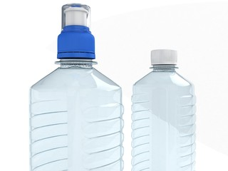Empty bottles isolated on white