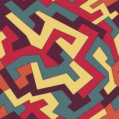 retro curve seamless pattern