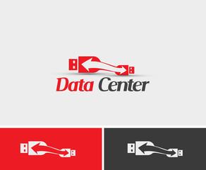 Data Center Logo Template Design.