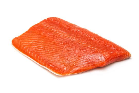 Wild Alaskan Sockeye or Coho Salmon fillet.