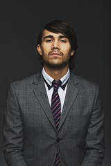 Male business executive in suit