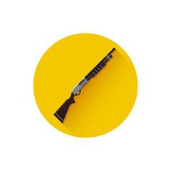 Vector Pump-Action Shotgun Icon