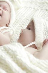 Newborn twins babies