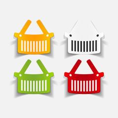 realistic design element: food basket