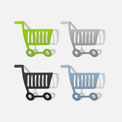realistic design element: grocery cart