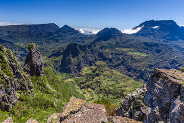 Piton Maïdo with view towards Mafate, La Réunion