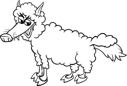 wolf in sheeps clothing coloring page