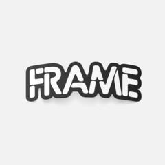 realistic design element: frame