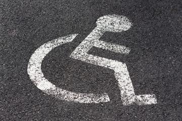 Pictogramme de personne à mobilité réduite