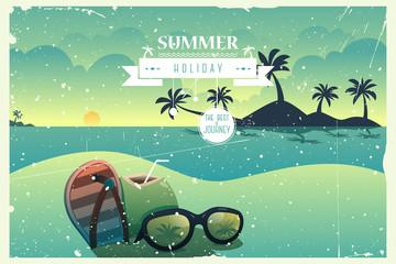 Vintage summer poster