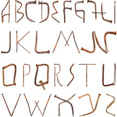 forged nails alphabet