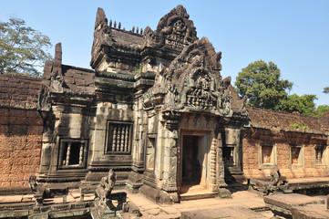Banteay Samre facade   in Siem Reap,Cambodia