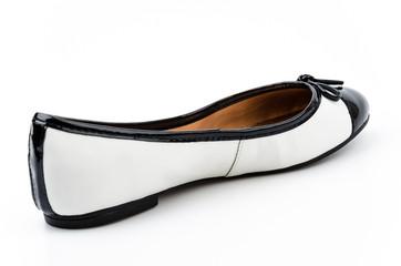 Sandal shoes isolated white background