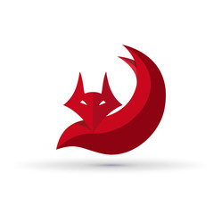 Vector Logo Fox. Concept of cunning
