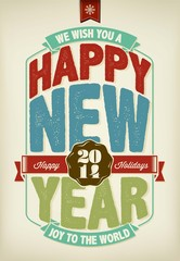 Vintage New Year Background With Typography