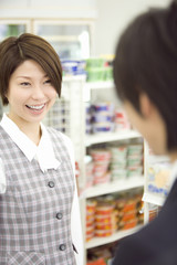 couple visiting convenience store