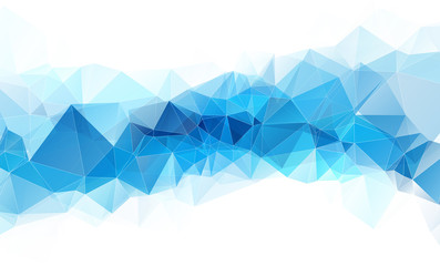 high quality blue white geometric abstract background with white