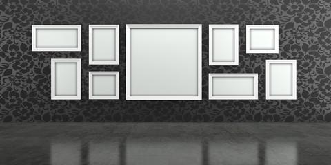 Galerie, Gemälde, Austellung, Bilder, Rahmen