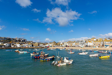Fototapete - St Ives harbour Cornwall England