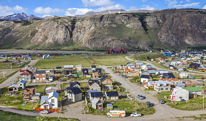 El Chalten village in Argentina.