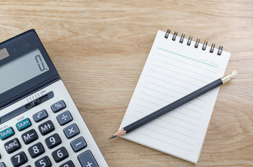 Notebook Pencil And Calculator