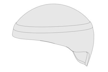 cartoon image of ski helmet