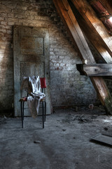 Canvas Prints Old Hospital Beelitz Abandoned attic room