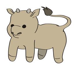 vector cartoon calf
