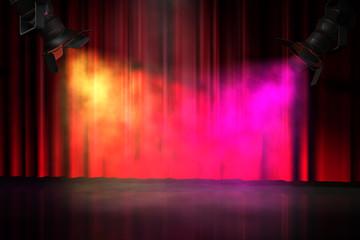 Bühne Spotlight Vorhang RG
