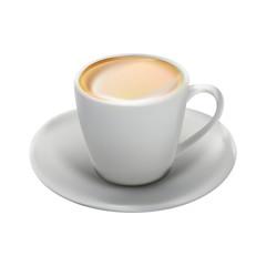 Porcelain white mug for coffee