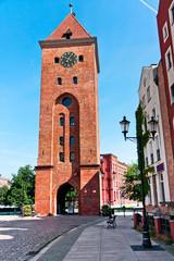 Elblag City, Market Gate  in Poland