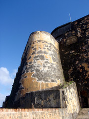 Imposing fortified wall of Historic El Morrow