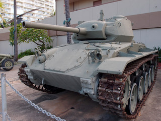 US Light Tank, M24 on Display at the Army Museum