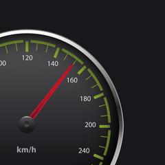 Vector illustration of speedometer