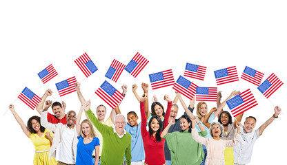 People from Different Countries United as One for America