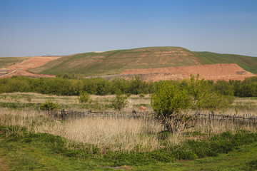 landscape of hills in the Russia