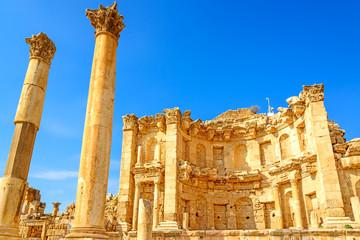 Ruins of Nymphaeum in Gerasa, Jerash, Jordan