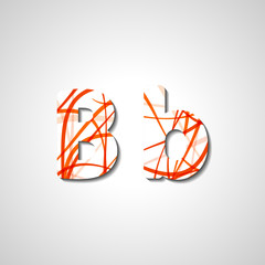 Colorful letter alphabet, abstract illustration