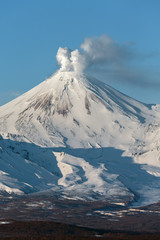 Poster Volcano Landscape of Kamchatka: Avachinsky Volcano