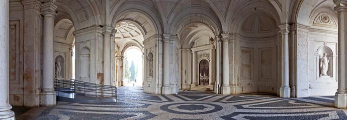 Entrance for visitors of Ajuda National Palace, Lisbon Wall mural