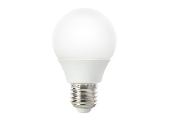 led light bulb isolated white