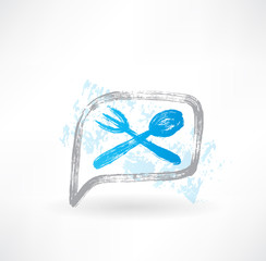 cutlery grunge icon